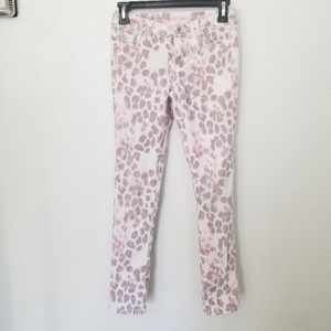 Justice Pink Leopard Print Jeans
